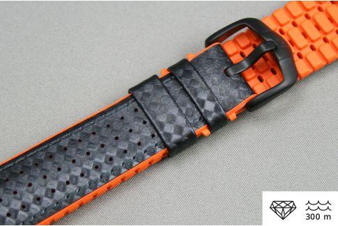 Bracelet montre HIRSCH Ayrton Noir Orange (étanche)