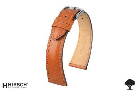 Bracelet montre HIRSCH Siena Marron Or, cuir de veau naturel italien