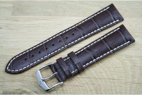 Bracelet montre HIRSCH Modena Marron, cuir de veau italien