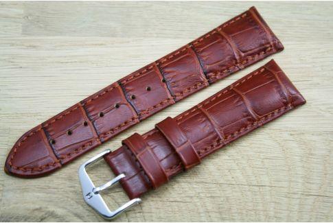 Bracelet montre HIRSCH Duke Marron Or, cuir de veau italien