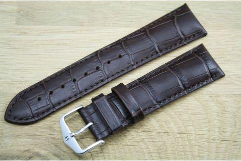 Bracelet montre HIRSCH Duke Marron, cuir de veau italien