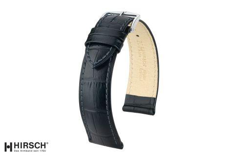 Bracelet montre HIRSCH Duke Noir, cuir de veau italien