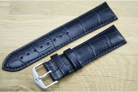 Blue Duke HIRSCH watch bracelet, Italian calfskin