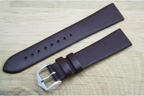 Bracelet montre HIRSCH Diamond Calf Marron, cuir de veau italien