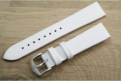 Bracelet montre HIRSCH Diamond Calf Blanc, cuir de veau italien