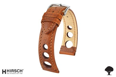 Gold Brown Rally HIRSCH watch bracelet (not waterproof)