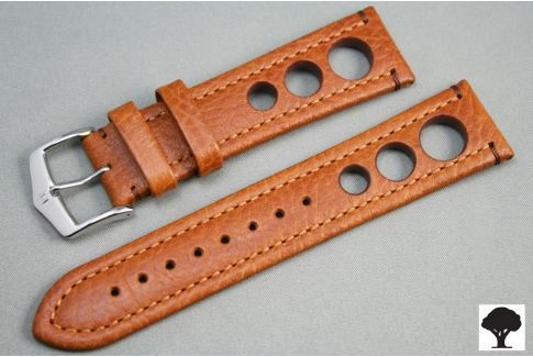 Bracelet montre HIRSCH Rally cuir Marron Or (non étanche)