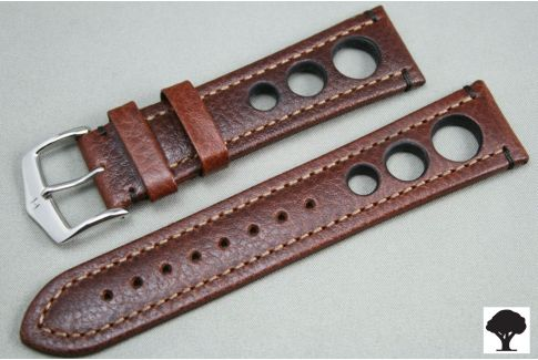 Bracelet montre HIRSCH Rally cuir Marron (non étanche)