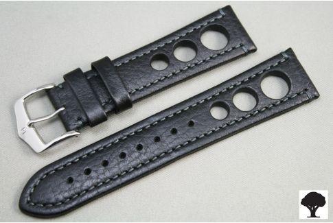 Bracelet montre HIRSCH Rally cuir Noir (non étanche)