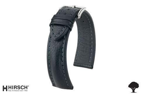 Bracelet montre HIRSCH Lucca, cuir toscan Noir, fabriqué main