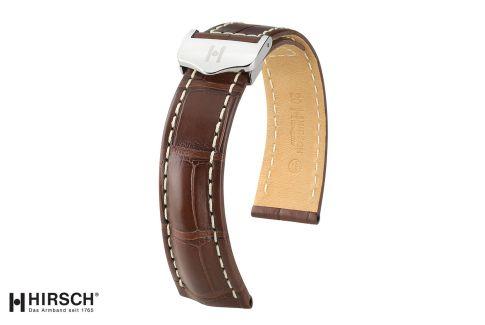 Bracelets montre boucle déployante HIRSCH Navigator en Alligator de Louisiane, les classiques