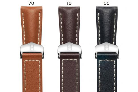 Italian Calfskin leather Navigator HIRSCH deployment watch bands, classics