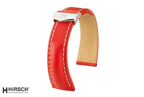 Italian Calfskin Navigator HIRSCH deployment watch bands, selection