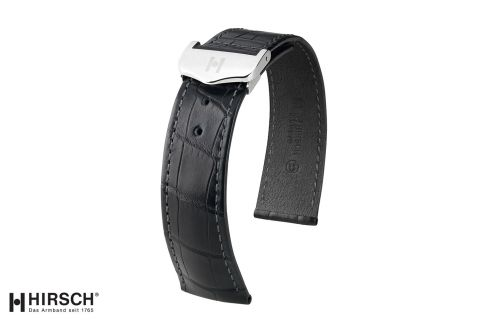 Bracelets montre boucle déployante HIRSCH Voyager en Alligator de Louisiane, les classiques