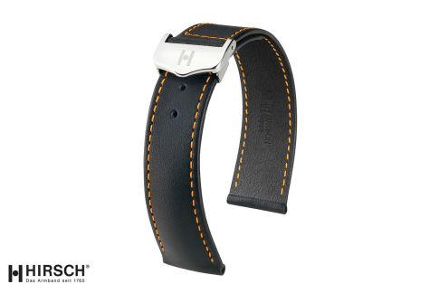 Italian Calfskin leather Voyager HIRSCH deployment watch bands, classics