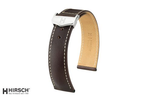 Italian Calfskin leather Voyager HIRSCH deployment watch bands, selection