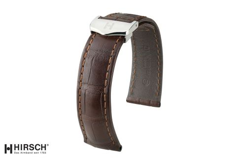 Louisiana Alligator Speed HIRSCH deployment watch bands, classics