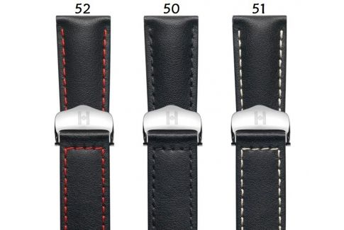 Italian Calfskin leather Speed HIRSCH deployment watch bands, classics
