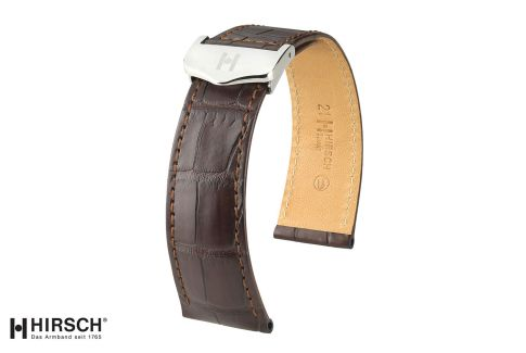 Louisiana Alligator Savoir HIRSCH deployment watch bands, classics