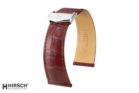 Louisiana Alligator Savoir HIRSCH deployment watch bands, matt selection