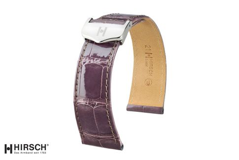 Louisiana Alligator Savoir HIRSCH deployment watch bands, shiny selection