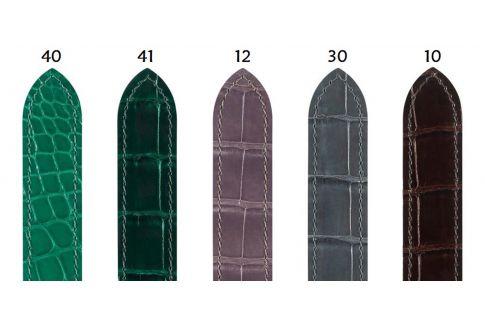 Bracelets montre boucle déployante HIRSCH Savoir en Alligator de Louisiane, sélection couleurs brillantes