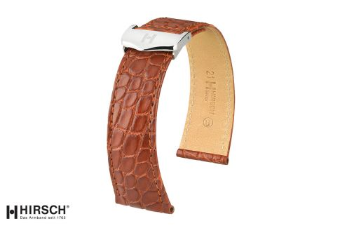 Louisiana Alligator flank Savoir HIRSCH deployment watch bands