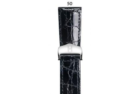 Bracelet montre boucle déployante HIRSCH Savoir en flanc de Crocodile d'Amérique du Sud
