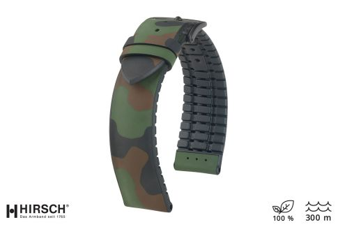 Camouflage John HIRSCH natural rubber watch bracelet
