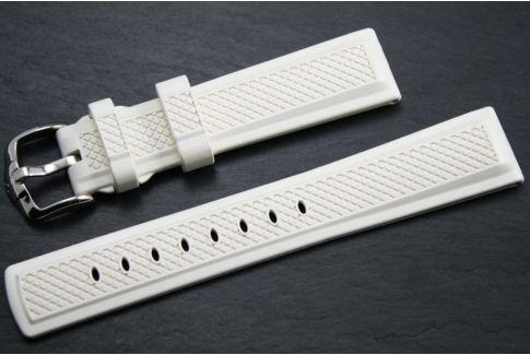 Bracelet montre HIRSCH Accent en caoutchouc naturel Blanc