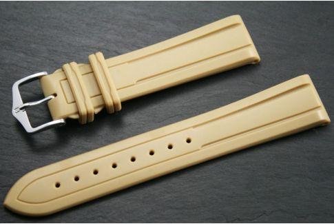 Beige Hevea HIRSCH natural rubber watch bracelet