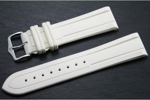 Bracelet montre HIRSCH Hevea en caoutchouc naturel Blanc