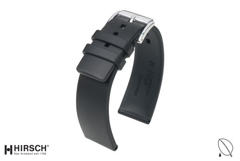 Black Pure HIRSCH natural rubber watch bracelet