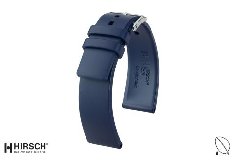 Blue Pure HIRSCH natural rubber watch bracelet