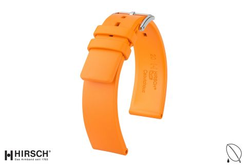 Orange Pure HIRSCH natural rubber watch bracelet