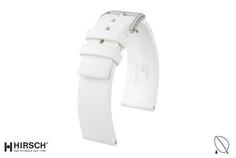Bracelet montre HIRSCH Pure en caoutchouc naturel Blanc