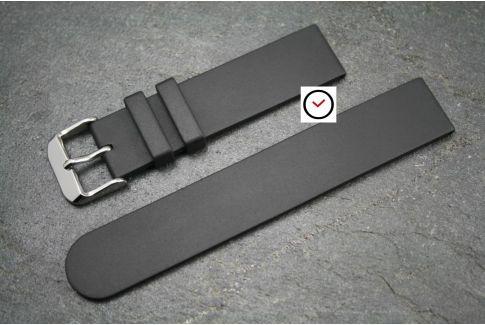 Bracelet montre caoutchouc naturel Classique Noir