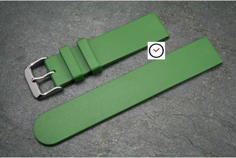 Bracelet montre caoutchouc naturel Classique Vert Kaki (Militaire)