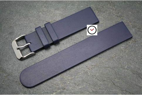 Bracelet montre caoutchouc naturel Classique Bleu Nuit