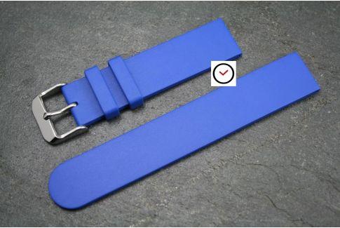 Bracelet montre caoutchouc naturel Classique Bleu Roi