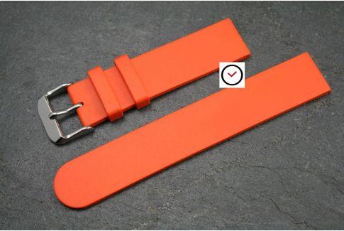 BBracelet montre caoutchouc naturel Classique Orange