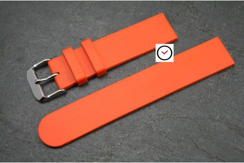 Orange Classic natural rubber watch strap