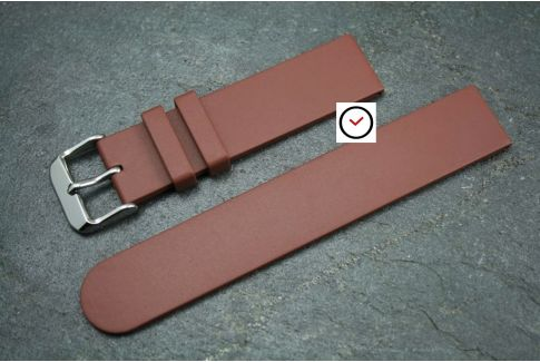 Brown Classic natural rubber watch strap