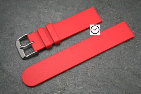 Red Classic natural rubber watch strap
