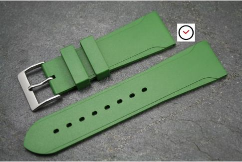Kaki (Military / Army Green) Casual natural rubber watch strap