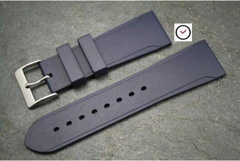 Bracelet montre caoutchouc naturel Sport Bleu Nuit