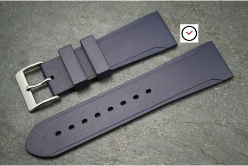 Night Blue Casual natural rubber watch strap