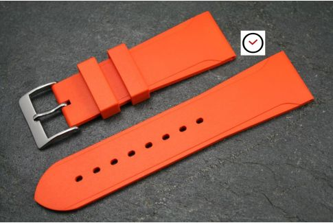 Orange Casual natural rubber watch strap