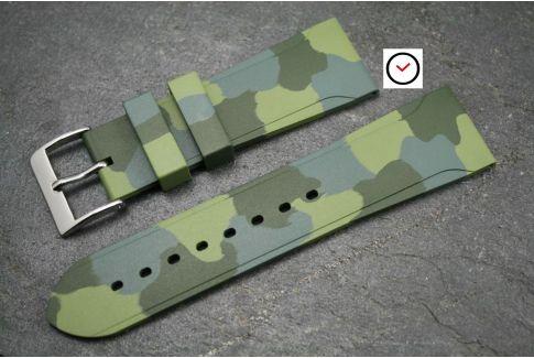 Bracelet montre caoutchouc naturel Sport Camouflage