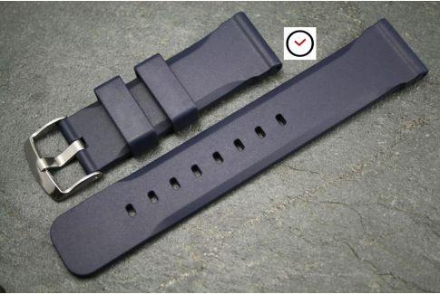 Bracelet montre caoutchouc naturel Technique Bleu Nuit